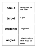 Coming Distractions Vocabulary Flash Cards Journeys 2014 C