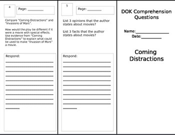 Coming Disttractions - DOK Trifold