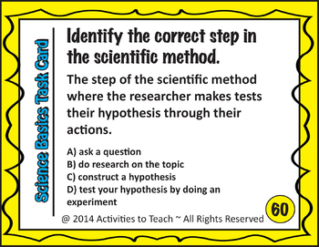 Science Basics Task Cards - Set #1