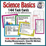 Science Method: Science Basics Task Cards for Middle Schoo