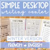 French & English Kindergarten Desktop Writing Centre: WINT