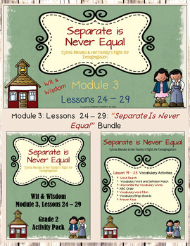 Bundle Coming Soon: Wit & Wisdom Grade 2 Module 3: Separate is Never Equal