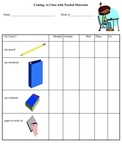 Coming To Class Materials Checklist