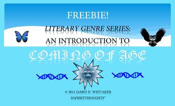 Coming of Age Freebie Common Core Literature Rigor