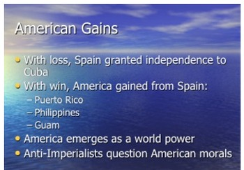 Coming of Age U.S. Imperialism 1900s Spanish American War PPT