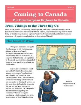 Coming to Canada: European Explorers