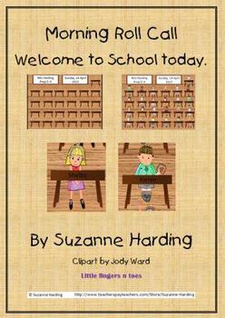 Coming to School ~ Morning roll call PowerPoint by Suzanne Harding