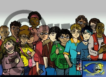 CommUNITY Classroom High School Set 1:  28 Piece Clip-Art of Diverse Students!