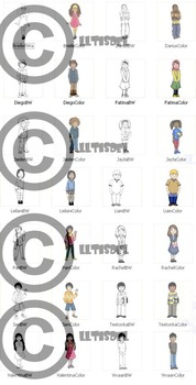 CommUNITY Classroom Kids: Set 1 (28 Piece Clip-Art of Diverse School Kids!)