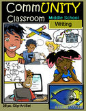 CommUNITY Classroom Middle School Writing Set: 28 pc. Clip Art!
