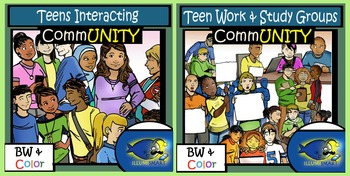 CommUNITY High School Teen Groups BUNDLE! 28 pc. Clip-Art Set!