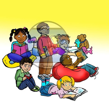 CommUNITY Readers BUNDLE: 64 pc. Clip-Art Set! BW & Color