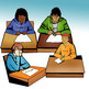 CommUNITY Students Writing: 22 Pcs. BW and Color Clip-Art