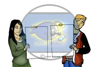 CommUNITY: Teen Project Presenters Clip-Art (12 pc. BW and Color!)