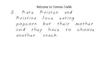 Comma Cafe Macaroni Activity