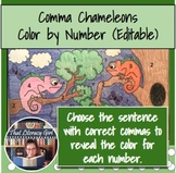 Comma Chameleons Color by Number