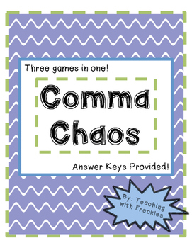 Comma Chaos: A Comma Game with Dice!
