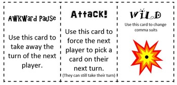 Comma Commander Card Game- Set A