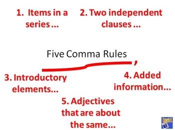 Comma / Commas - Common Core