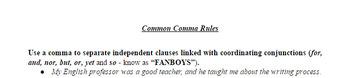 Common Comma Rules