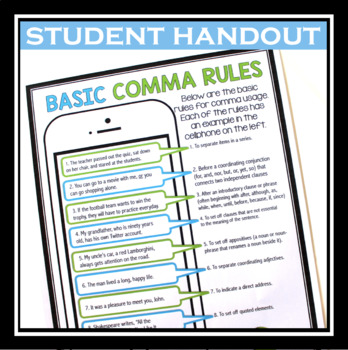 COMMA - FREE HANDOUT AND ACTIVITY