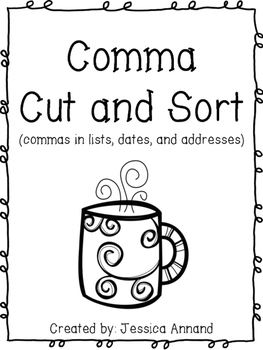 Comma Cut and Sort Center Set 2