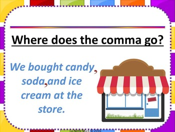 Comma Drama PowerPoint with Student Workbook