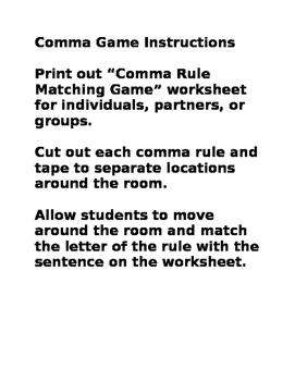 Comma Game
