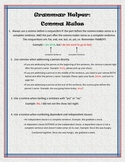 Grammar Helper: Comma Rules