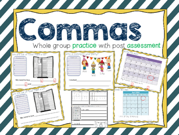 Comma Lesson and Assessment