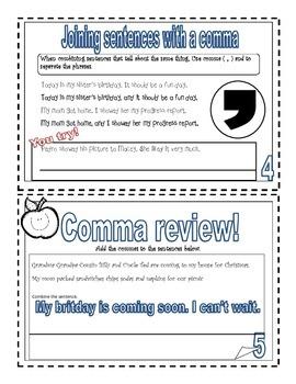 Comma Mini-Book ( Writer's Workshop