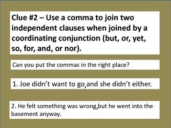 Comma PowerPoint: Comma Mystery