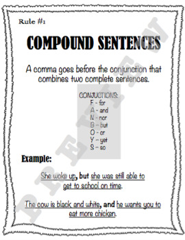 Comma Posters with Differentiated Handouts and Guided Notes
