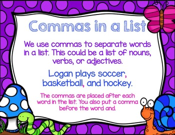 Comma Powerpoint and Task Cards Bundle