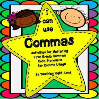 Commas in a series worksheet grade 1
