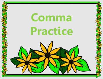 Comma Practice