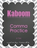 Comma Practice Kaboom Game