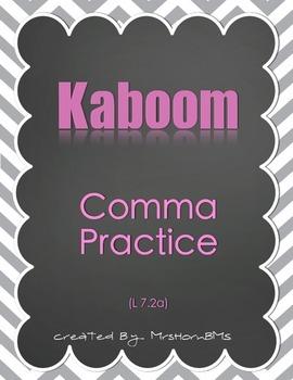 Comma Practice Kaboom Game