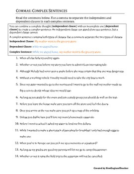 Comma Practice Packet 2