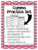 Comma Practice Sheets
