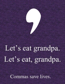 Comma Punctuation Poster