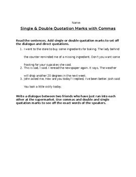 Comma Review/Assessment