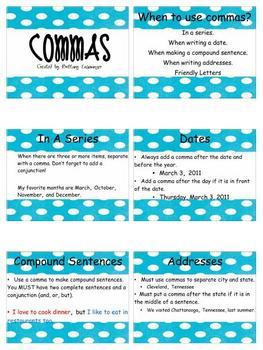 Comma Review Flipchart