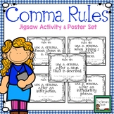 Comma Rules Practice Activity and Poster Set