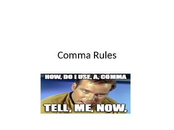 Comma Rule PowerPoint