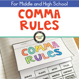 #fireworks2020 Comma Rules Interactive Notebook Flipbook
