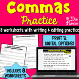 Comma Rules: A Set of Eight Worksheets
