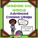 Comma Rules ~ADVANCED~ Grammar Practice - Color By Code for Middle Grades!