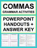 Comma Rules Activities - Worksheets, Powerpoint & Answer Key