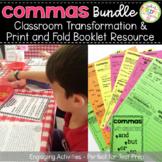 Comma Rules Bundle - ELA Test Prep Classroom Transformation Interactive Notebook